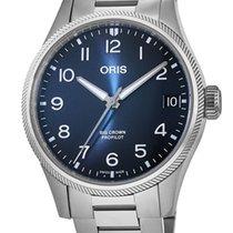 Oris Big Crown ProPilot Date Steel Blue Arabic numerals United States of America, New York, Brooklyn