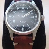 IWC Pilot Mark Steel 38mm Black Arabic numerals