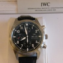 IWC Pilot Chronograph usados 42mm Negro Cronógrafo Fecha Día de la semana Piel