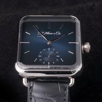 H.Moser & Cie. Henry Double Hairspring Acero 38.2mm Azul
