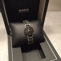 Rado Centrix pre-owned 28mm Black Date Ceramic