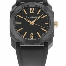 Bulgari pre-owned Automatic 41mm Black Sapphire crystal 10 ATM
