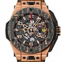 Hublot Big Bang Ferrari pre-owned 45mm Transparent Chronograph Date Leather