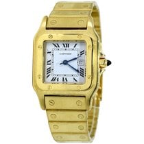 Cartier Santos Galbée Yellow gold 29mm Silver Roman numerals United States of America, New York, Greenvale