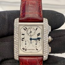 Cartier White gold Quartz Silver pre-owned Tank Française