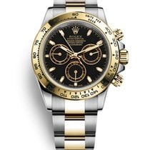 Rolex Daytona Gold/Steel 40mm Black No numerals United States of America, New Jersey, Totowa