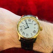 Girard Perregaux 1966 Желтое золото 38mmmm Белый Римские