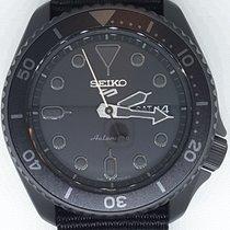 Seiko Steel Automatic Black No numerals new 5 Sports