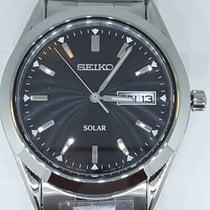 Seiko Solar Acier 37,4mm Noir Sans chiffres
