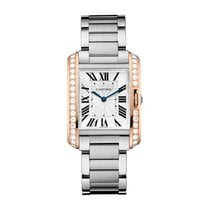 Cartier Tank Anglaise Rose gold Silver