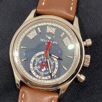 Patek Philippe Annual Calendar Chronograph Oro blanco Azul