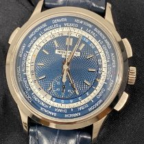 Patek Philippe World Time Chronograph White gold 39.5mm Blue No numerals United States of America, New York, Manhattan