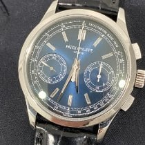 Patek Philippe Chronograph Platinum 39.4mm Blue No numerals United States of America, New York, Manhattan