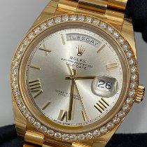 Rolex Day-Date 40 Gelbgold 40mm Gold Keine Ziffern