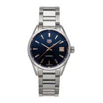 TAG Heuer Carrera Lady pre-owned 36mm Blue Date Fold clasp