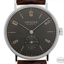 NOMOS Tangomat Steel 38mm Grey Arabic numerals