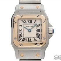 Cartier Santos Galbée gebraucht 35mm Gold/Stahl