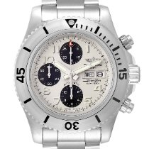 Breitling Steel Automatic White Arabic numerals 44mm pre-owned Superocean Chronograph Steelfish