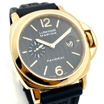 Panerai Luminor Marina Automatic PAM 00140 Very good Yellow gold 44mm Automatic