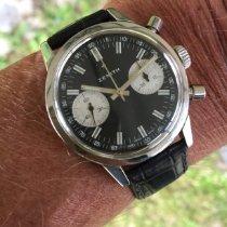 """Zenith Zenith Chronograph, vintage, """"Panda dial"""" späte 60er, Top Muy bueno Acero 37mm Cuerda manual"""