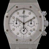 Audemars Piguet Or blanc Remontage automatique Argent 39mm occasion Royal Oak Chronograph