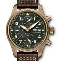 萬國 Pilot Spitfire Chronograph 青銅 41mm 綠色 阿拉伯數字