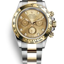 Rolex Daytona Gold/Steel 40mm Champagne No numerals