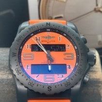 Breitling Cockpit B50 pre-owned 46mm Orange Chronograph Flyback Date Perpetual calendar Alarm GMT Tachymeter Rubber