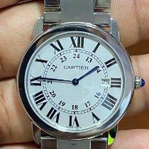 Cartier Ronde Solo de Cartier Acero Blanco Romanos