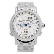 Ulysse Nardin GMT +/- Perpetual Platinum 38mm Silver No numerals