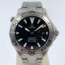 Omega Titanium Automatic Black No numerals 41mm pre-owned Seamaster