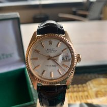 Rolex Datejust pre-owned 36mm Champagne Date Crocodile skin