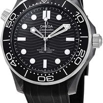 Omega Ceramic Automatic Black No numerals 43.5mm new Seamaster Diver 300 M