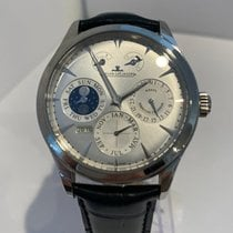 Jaeger-LeCoultre Master Eight Days Perpetual Stahl 40mm Silber