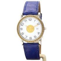 Hermès Sellier Gold/Stahl 27mm Weiß Arabisch
