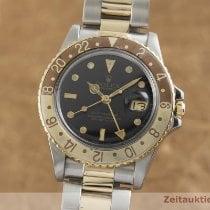 Rolex GMT-Master Zlato/Zeljezo 39.5mm Crn