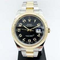Rolex Datejust II Or/Acier 41mm Noir Arabes France, Paris