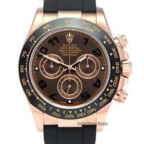 Rolex Daytona Ouro rosa 40mm Castanho Árabes