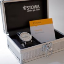 Stowa new Automatic Display back Central seconds Tempered blue hands Only Original Parts 36,5mm Steel Sapphire crystal