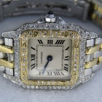 Cartier Panthère Gold/Steel 23mm Silver Roman numerals United States of America, New York, NEW YORK CITY