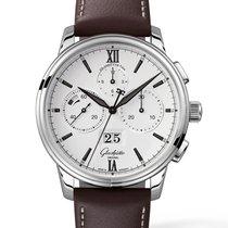 Glashütte Original Senator Chronograph Panorama Date Steel 42mm White Roman numerals