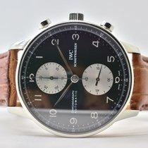 IWC Portugieser Chronograph Stahl 40,9mm Silber Arabisch Deutschland, Iffezheim