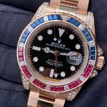 Rolex GMT-Master II Rose gold 40mm Black No numerals United States of America, New York, Manhattan