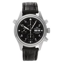 IWC Pilot Double Chronograph Steel 42mm Black Arabic numerals United States of America, Florida, Surfside