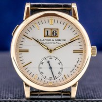 A. Lange & Söhne Rose gold Automatic Silver 37mm pre-owned Langematik