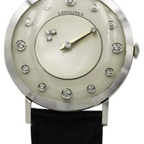 Longines White gold 32mm pre-owned