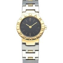 Bulgari Yellow gold Quartz Black 23mm pre-owned Bulgari