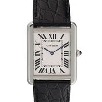 Cartier Tank Solo pre-owned 27mm White Leather