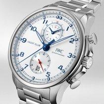 IWC Portuguese Yacht Club Chronograph nuevo 2020 Automático Cronógrafo Reloj con estuche y documentos originales IW390702