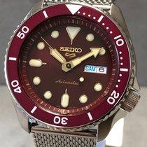 Seiko 5 Sports Acier 42,5mm Bordeaux Sans chiffres